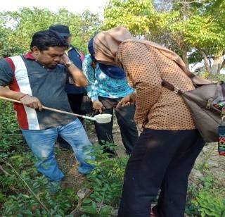Pengambilan sampel 2 Pemetaan Luas Wilayah Reseptifitas Daerah Malaria di Kabupaten Pandeglang